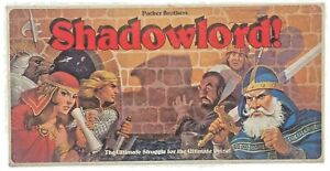 SHADOWLORD Parker Brothers Board Game Fantasy Adventure Complete D&D