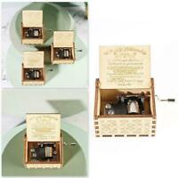 Hand-Cranked Wooden Music Box Musical Case Toys Gifts Holiday Gift