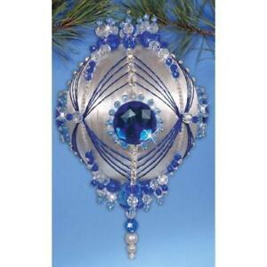 Design Works Sapphire Blue Beaded Ornament Kit ~ NEW in Box
