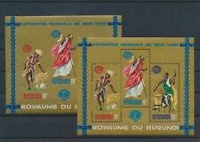 LM79990 Burundi perf/imperf New York expo sheets MNH