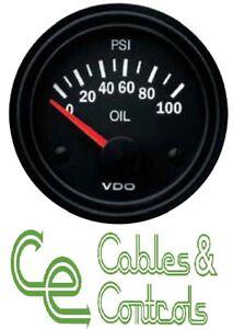 VDO 100 PSI 52mm 12v OIL Pressure GAUGE ONLY 2y WARRANTY 350010021