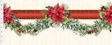 In The Beginning A Poinsettia Winter - Digital 2Apw1 Garland Stripe Cotton