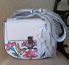 NWT Guess McKenna Saddle Bag Handbag Color Stone White 100% Authentic