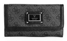 NEW GUESS BLACK SCANDAL SLIM CLUTCH WALLET