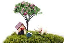 4 pcs of Miniature DogTerrarium Set Fairy Garden Animal Ornament