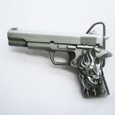 Skull Tattoo Hand Gun Metal Fashion Belt Buckle