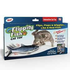 New listing (2 Pack) Flippity Fish Cat Toy, Interactive Cat Toy, Flips, Flops & Wiggles Fun
