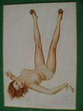 Alberto Vargas Pinup Girl Calendar Art 1980 Issue by Bantam Gallery Redhead WOW