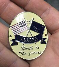 Alaska AK flag US United States Hiking Staff Stick Medallion NEW
