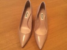 Dune Nude Patent Pointed Court Shoe - size 5(38)