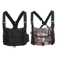 Multi-function Tactical Radio Chest Rig Harness Vest Pocket Call Equipment