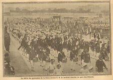 PARIS PARC DES PRINCES FEDERATION GYMNASTIQUE CARDINAL AMETTE  IMAGE 1913