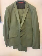 "Hugo Boss Green 40R ""Artiheggins"" Slim Fit Cotton Suit NWOT $795"