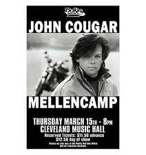 John Mellencamp 1984 Cleveland Concert Poster