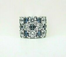 Authentic Pandora #798487C02 Blue & Clear Sparkle Charm with Crystal and CZ