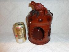 Large Ned Foltz Redware Pottery Bird Feeder, Signed & Dated 1997 (j)