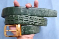Green Genuine Alligator CROCODILE Leather Skin Men's BELT