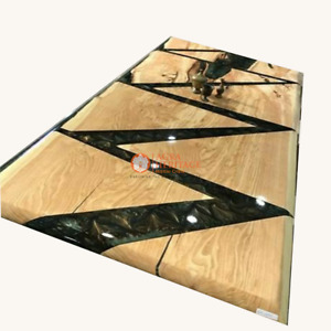 Acacia Wooden Epoxy Dinner Table Tops, Custom Order, Epoxy Resin Table, Decors