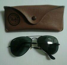 Ray Ban Bausch & Lomb Vintage Aviator Sunglasses Impact Resistant Lenses w/Case