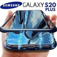 COVER MAGNETICA PER SAMSUNG GALAXY S20 PLUS CUSTODIA RETRO VETRO TEMPERATO