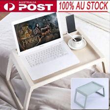 Foldable Desk Breakfast Bed Table Computer Holder Portable Serving Tray Beige