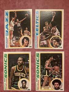4 Card Lot 1978/79 Topps Basketball Goodrich Cowers Johnson Brown  ALL NM/M