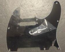 New Tele Pickguard BLACK 8 Hole 3 Ply for Import Custom Fender Telecaster Guitar