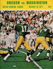 >1971 OREGON DUCKS vs WASHINGTON HUSKIES Football Program DAN FOUTS on COVER