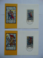 DDR 2 Maximumkarten Gedenkstätte Sachsenhausen Glasfenster 1968 Mi 1346 1347