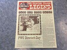 Frontier Village Amusement Park San Jose Legend newsletter Summer 1977