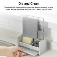Sponge Sink Tidy Storage Kitchen Organizer Holder Washing Cloth Drain Rack