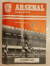 1975/76  Arsenal v Coventry City 11th October, Cup Final Voucher intact