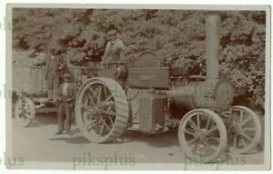 OLD POSTCARD BRITTENDEN & SONS TRACTION ENGINE  WHITEMAN REAL PHOTO RYE SUSSEX