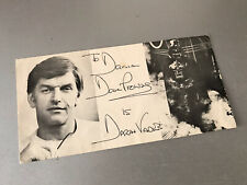 DAVID PROWSE AUTOGRAPH DAVID PROWSE DARTH VADER SIGNED CARD 1970s 1980s RARE