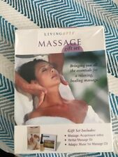 Massage Gift Set Healing Including Herbal Oil, Cd And Vhs Acupressure