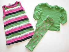 Gymboree Garden Friend sweater jumper dress butterfly legging top shirt 12 18 24