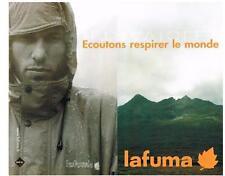 PUBLICITE ADVERTISING  2001  LAFUMA  vetements