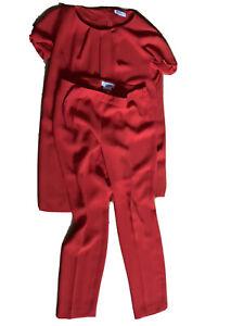 TOP!!! Original Max Mara 2 tlg. Set Hose & Bluse Pianoforte Kleid, rot Gr. 40