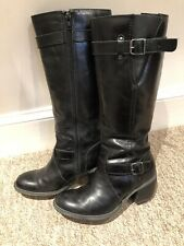 Hush puppies Size 3 Eu 36 Black Leather Boots