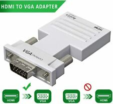 1080P HDMI to VGA Adapter w/ Audio 3.5 Stereo Cable -Female HDMI to Male (BLACK)