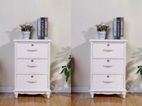 Set of 2 Strong Nightstand Storage Solid Wood End Table Bedroom Side Bedside