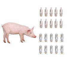 20Pcs Metal Pig Hog Automatic Nipple Drinker Waterer