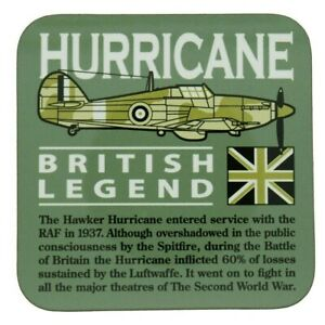 HAWKER HURRICANE WW11 RAF/ROYAL NAVY/RCAF FIGHTER AIRCRAFT GREEN COASTER.