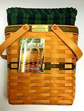 Longaberger Membership Basket Collectors Club W/ Cloth& Plastic  00006000 Liners