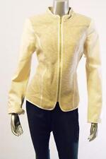 Calvin Klein Multi-colored Khaki Jacket w/Tweed chest / faux leather arms Sz 12
