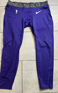 NBA Nike Pro Warm Player Issued Compression Tights Size 3XL Purple Lakers