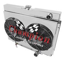 1967 68 69 70 Mercury Cougar 2 Row Champion Alum Radiator Fan Shroud Combo