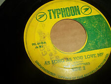 "THE MAYTONES AS LONG AS YOU LOVE ME 45 ON TYPHOON JAMAICA REGGAE 7"" VG+"