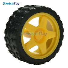 Small Smart Car Model Robot Plastic Tire Wheel 65x26mm For Arduino New DIY