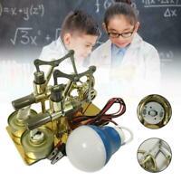 Doppelzylinder Heißluft Stirling Motor Motor Modell LichtKit Generator Spie